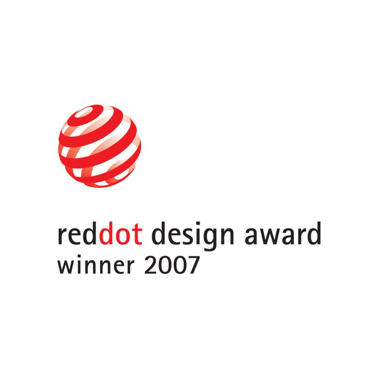 Red dot award winner logo