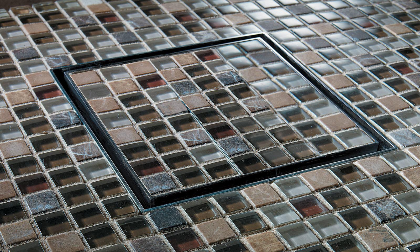 Cal Faucets Style Drain Tile mosaic