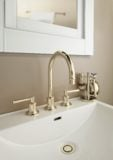 Miramar faucet in polished brass uncoated