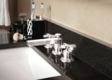 Rincon Bay faucet in Burnished Nickel with cross handles