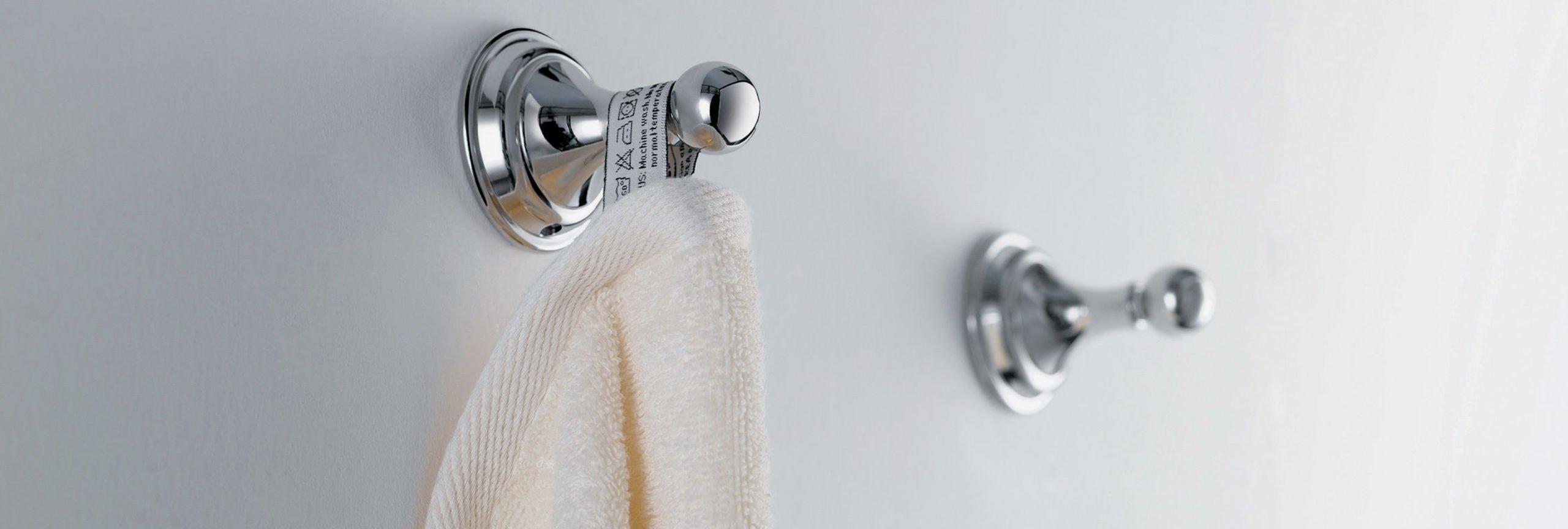 bathroom accessories: robe hooks on wall