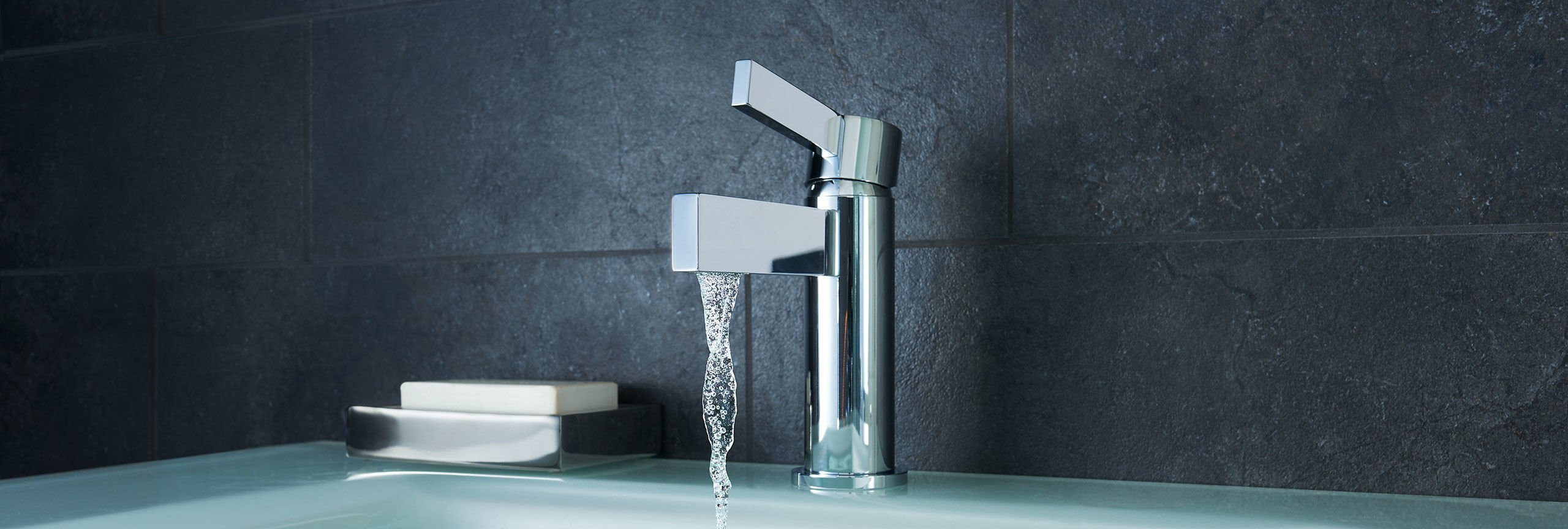 bathroom series Bel Canto single hole faucet with running water