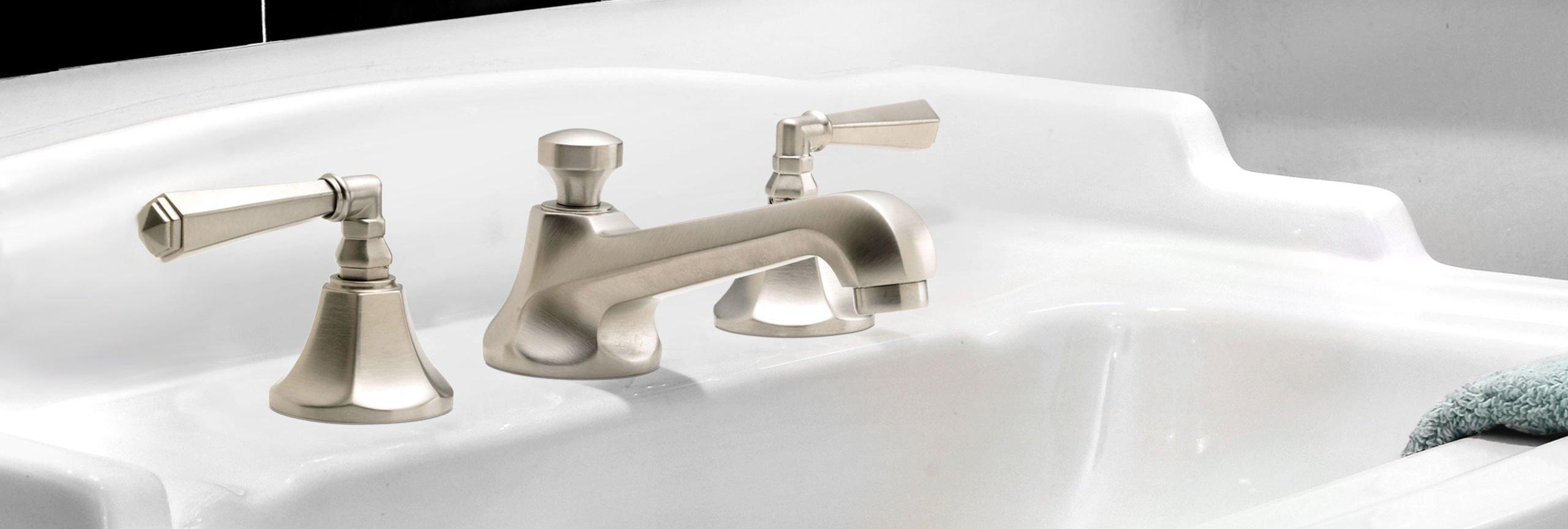 Bathroom series monterey widespread faucet on sink