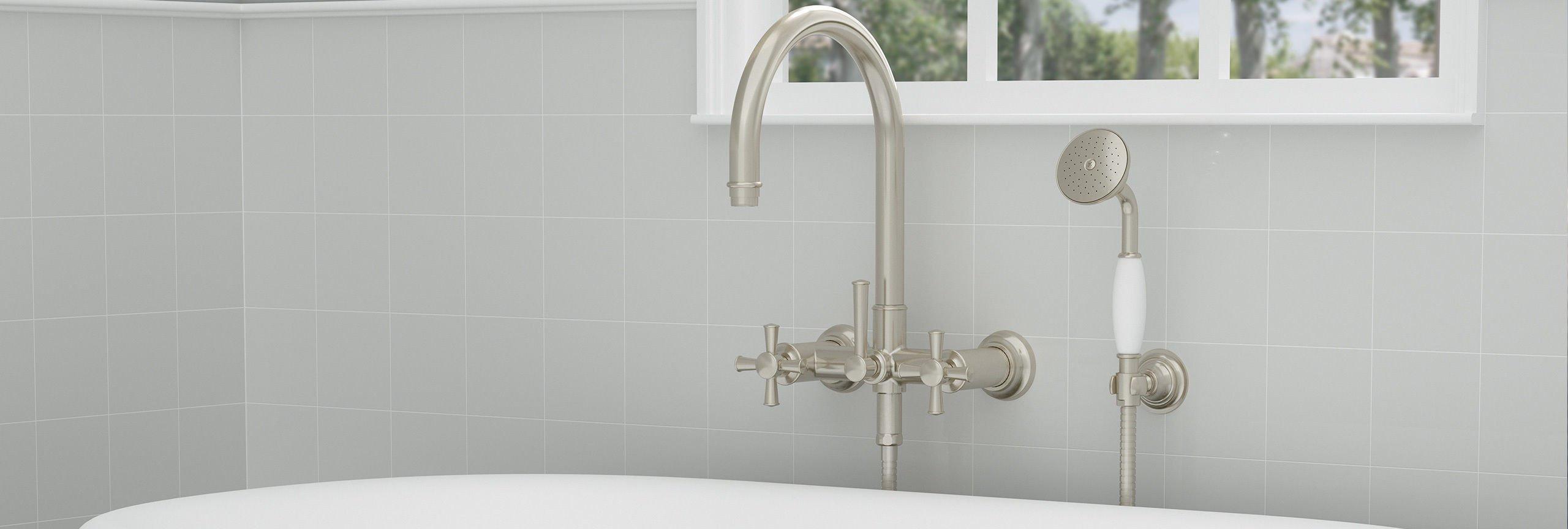 Bathroom series Palomar tub filler wall mount over tub