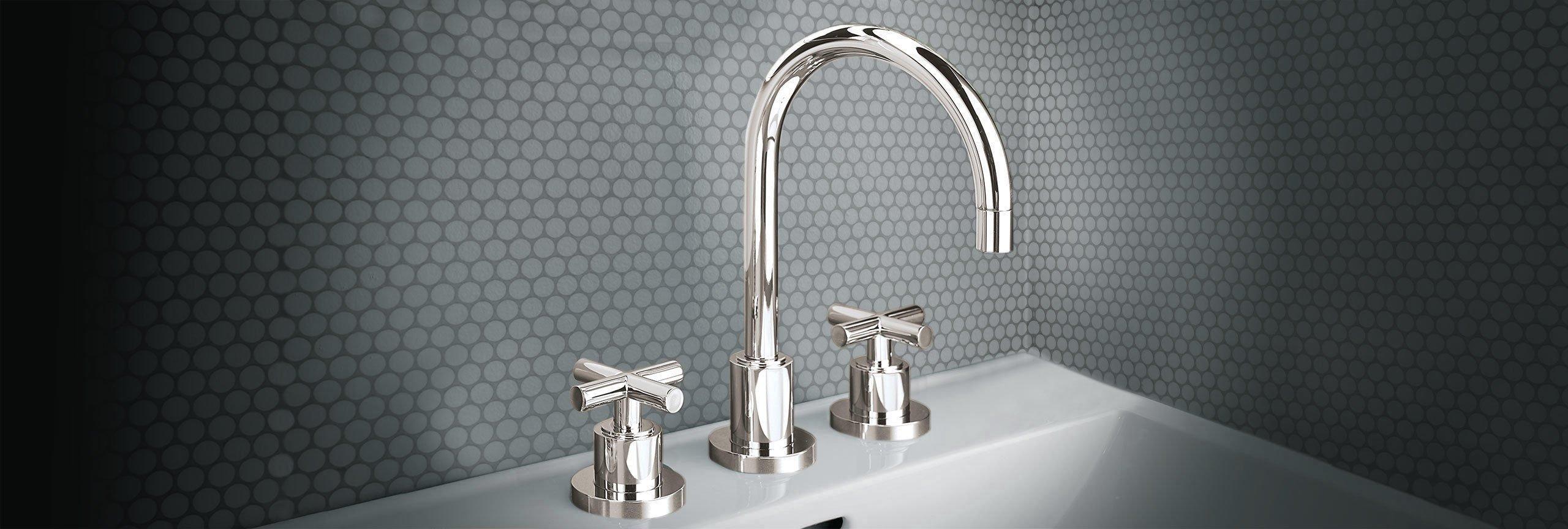 bathroom series Tiburon widespread faucet with cross handles