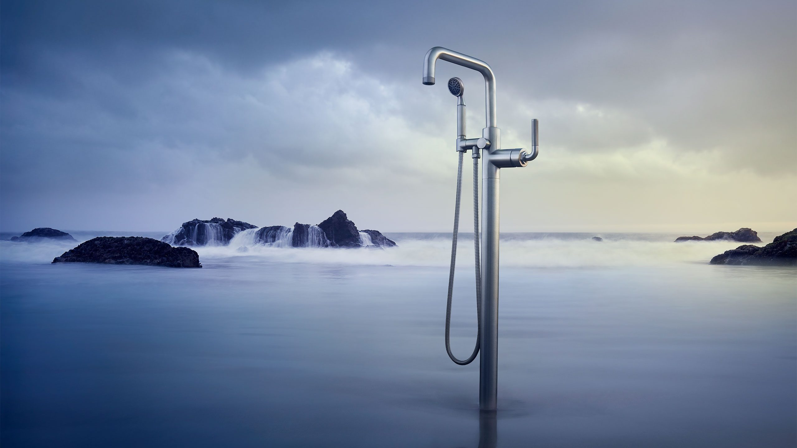 Industrial Style Tub Filler Faucet
