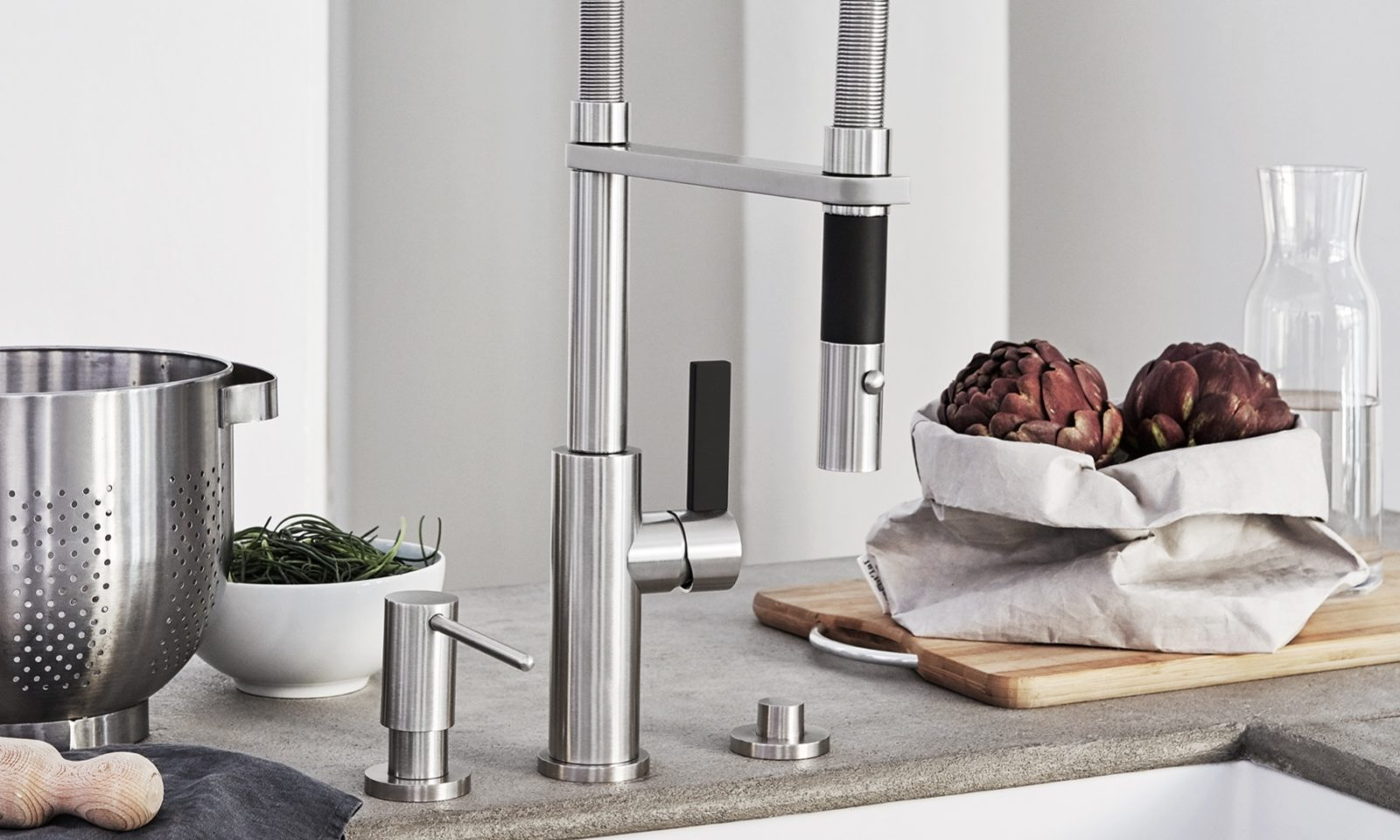 Gourmet Culinary Kitchen Faucet with Pull-Down Spout